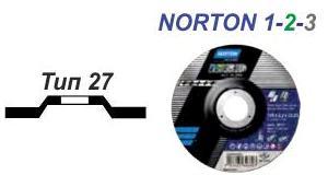 Круг відрізний Norton 1-2-3