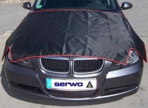 Защитная накидка на капот автомобиля